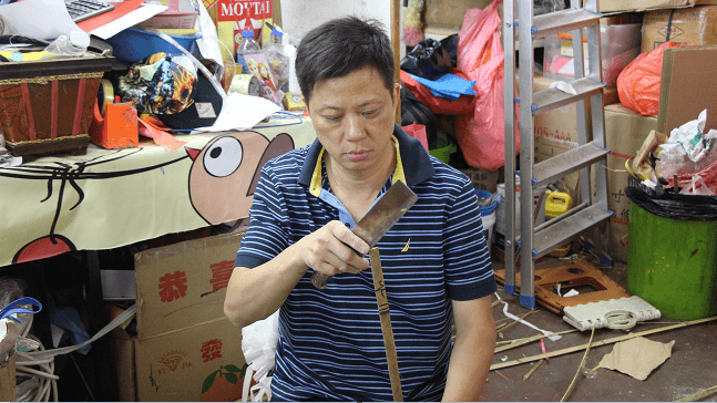 Mr Ha Chun-kin has been working in the paper offering industry for over 30 years