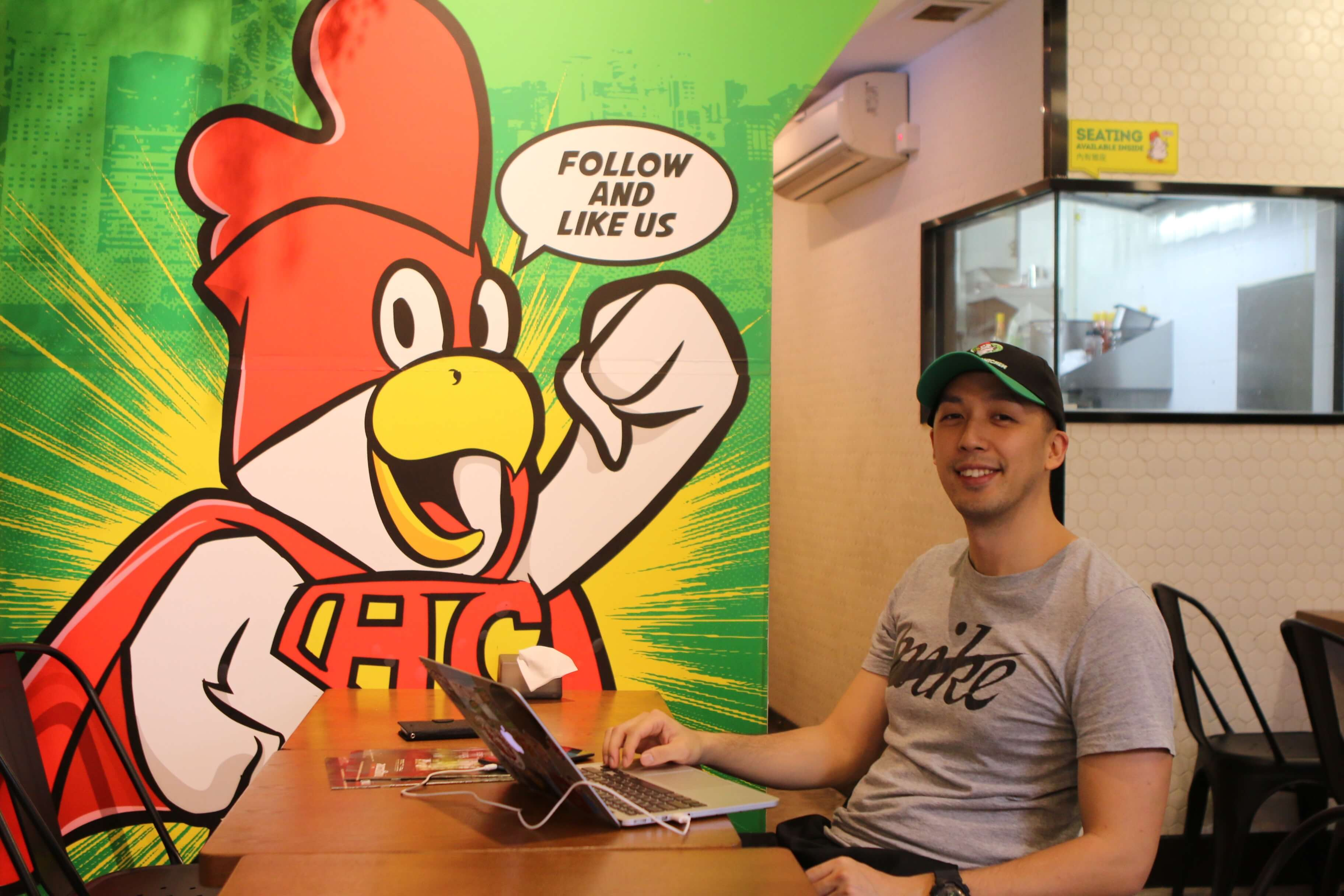 Founder of Healthy Chicken, Percy Hung, has been using online food delivery services since he started his business.