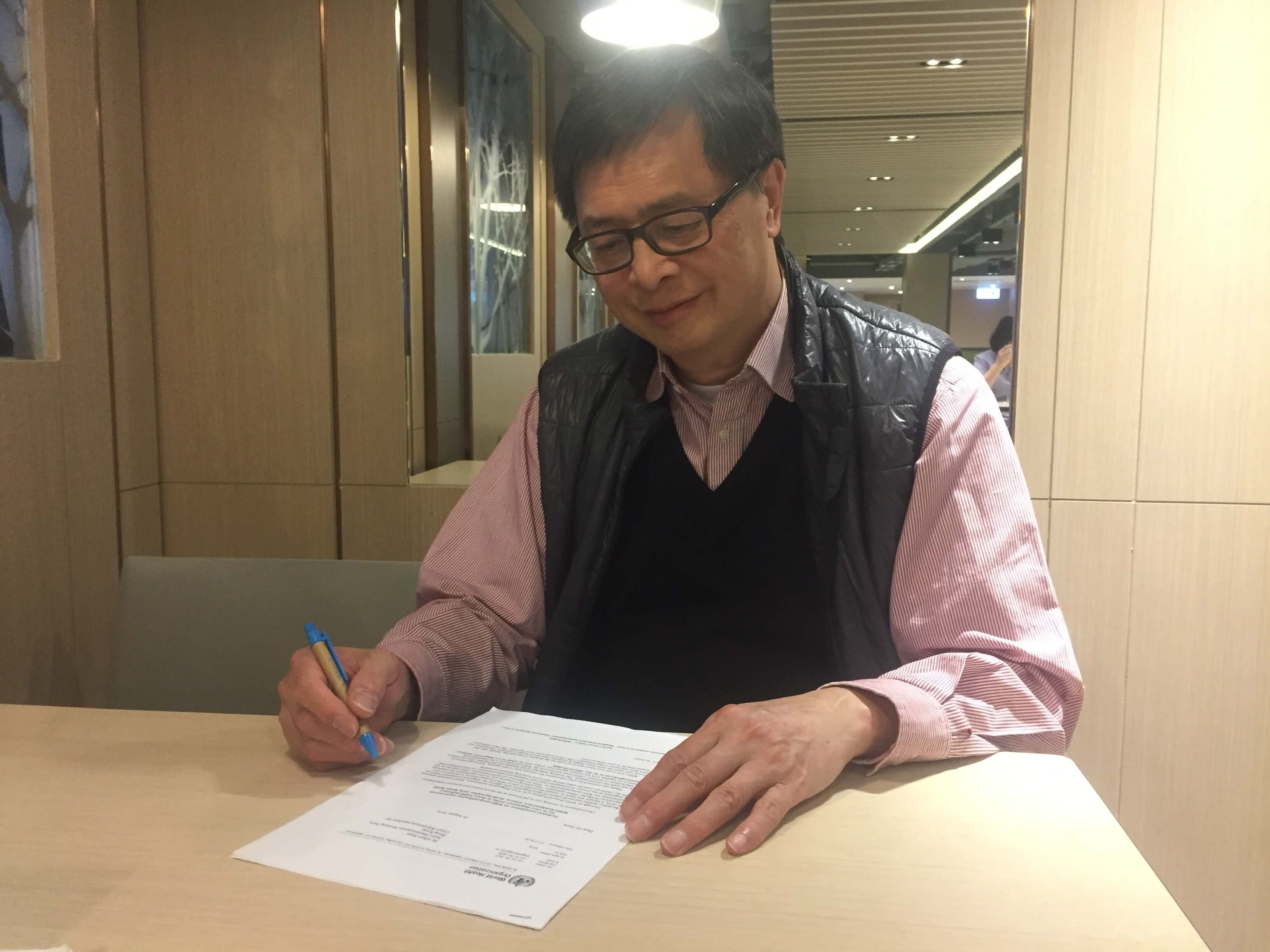 Albert Poon Kat-fat, a professor of Practice (Biomedical Engineering) in The Hong Kong Polytechnic University. He initialized the previous medical device proposal in 2003 as a professional on medical device regulation.
