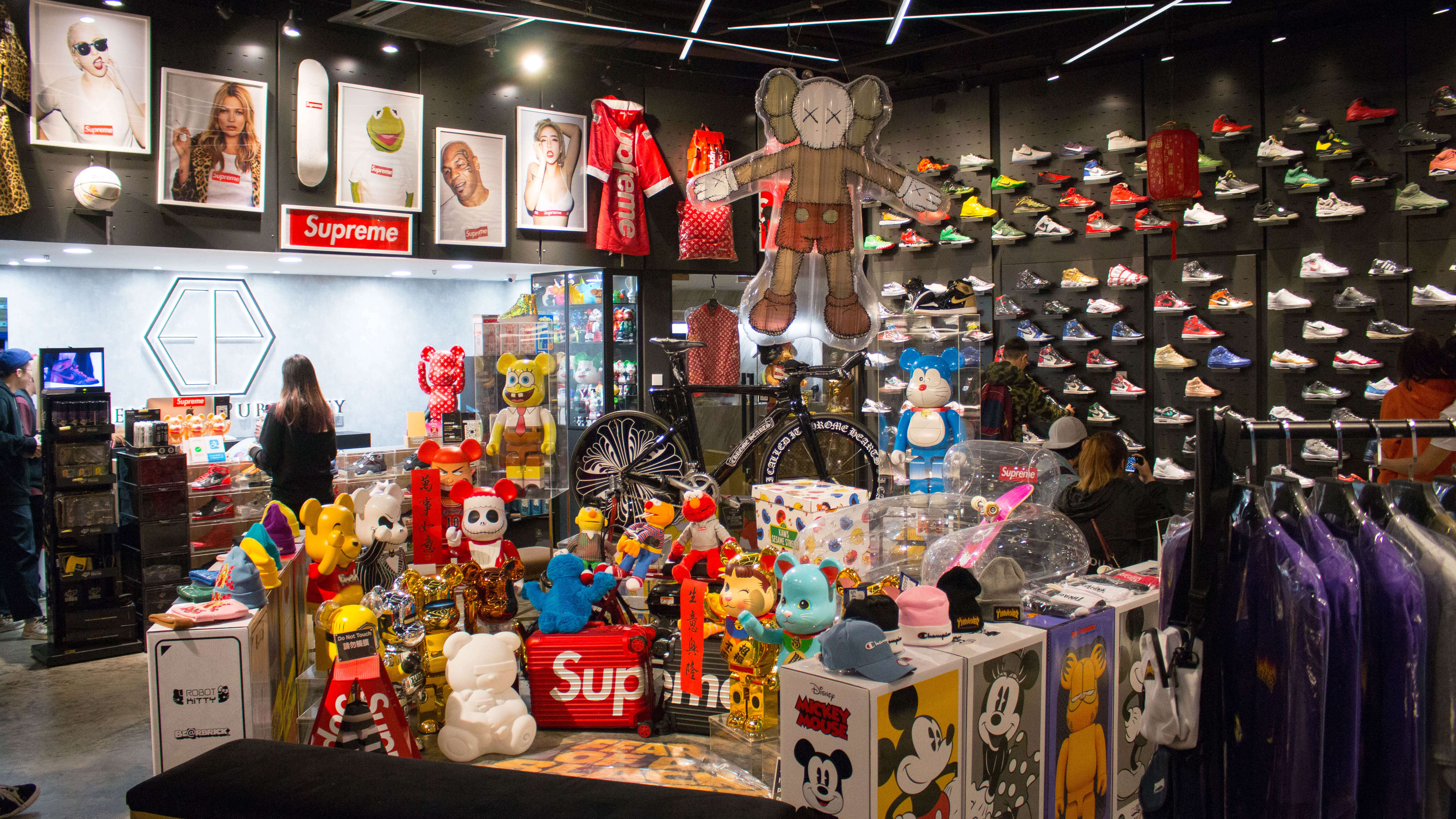 6ff9b809 Extensive Publicity stocks up on everything related to streetwear culture.  These include clothes, Bearbricks and various Supreme accessories